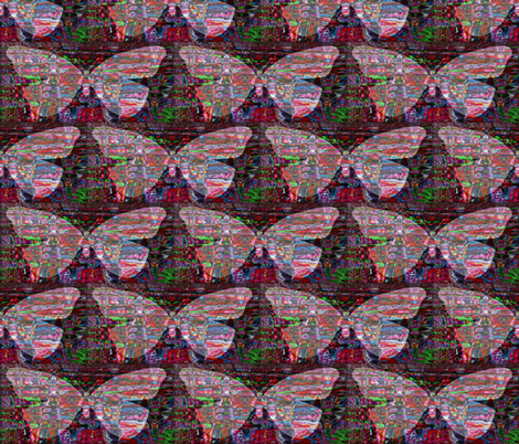 A Rainbow on its Wings fabric by anniedeb on Spoonflower - custom fabric