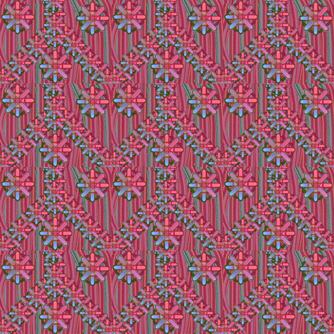 zigzag stars fabric by y-knot_designs on Spoonflower - custom fabric