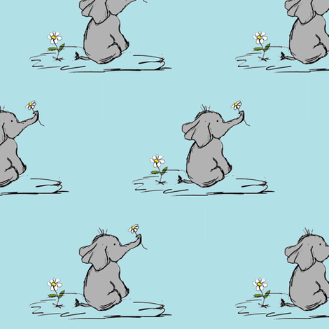 Jeffery Elephant fabric by evelynrosedesigns on Spoonflower - custom fabric