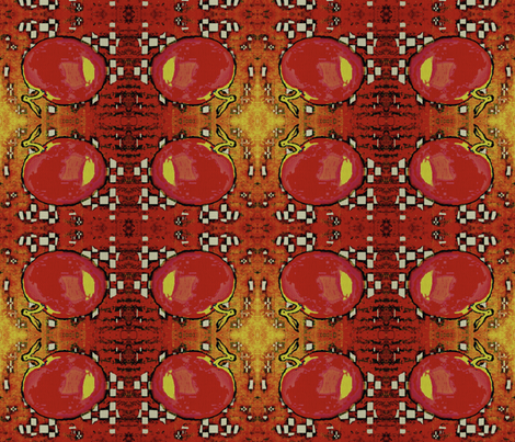 Picnic Cloth - red, yellow, black, white fabric by materialsgirl on Spoonflower - custom fabric