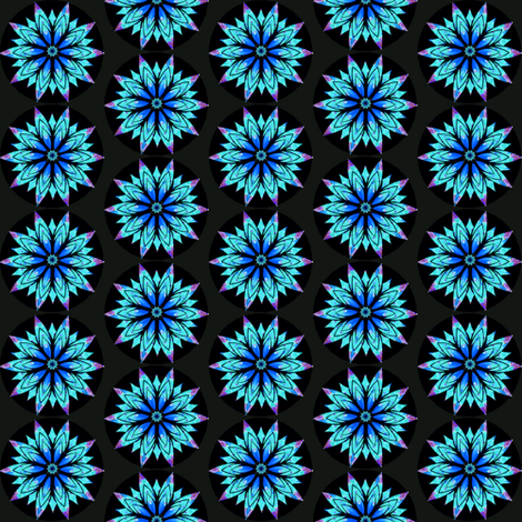 Modern Snowflakes 9A -  Snow at Nightfall (smaller pattern)