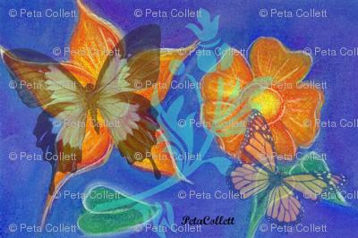 Marigolds and Butterflies