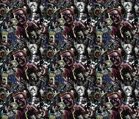 Zombie Cluster fabric by mattcrossley on Spoonflower - custom fabric