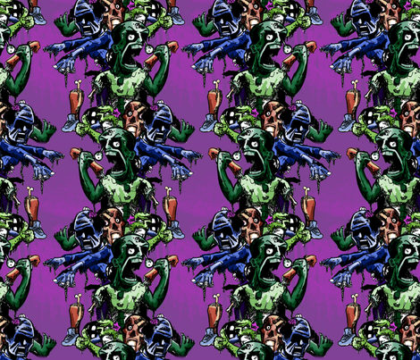 Zombie Pillars fabric by mattcrossley on Spoonflower - custom fabric
