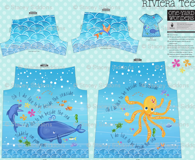 I do like to be beside the seaside! Riviera Tee for One Yard Wonders