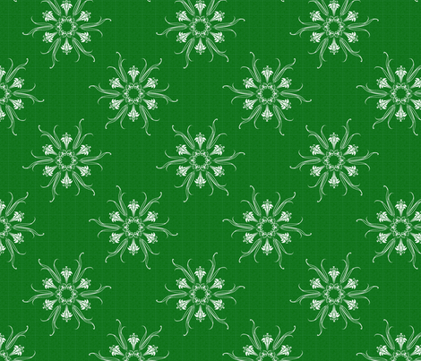 butterflakes_GREEN fabric by glimmericks on Spoonflower - custom fabric