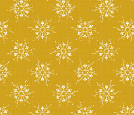 butterflakes_GOLD fabric by glimmericks on Spoonflower - custom fabric