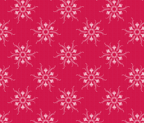 butterflakes_RED fabric by glimmericks on Spoonflower - custom fabric