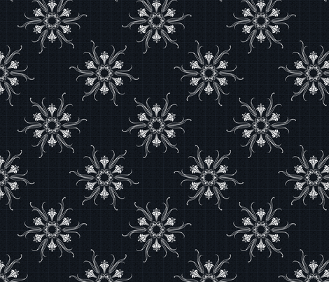 butterflakes_BLACK fabric by glimmericks on Spoonflower - custom fabric