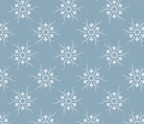 butterflakes_BLUE_LIGHT fabric by glimmericks on Spoonflower - custom fabric