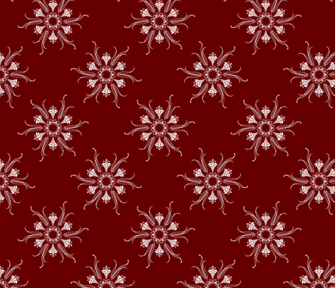 butterflakes_oxblood fabric by glimmericks on Spoonflower - custom fabric