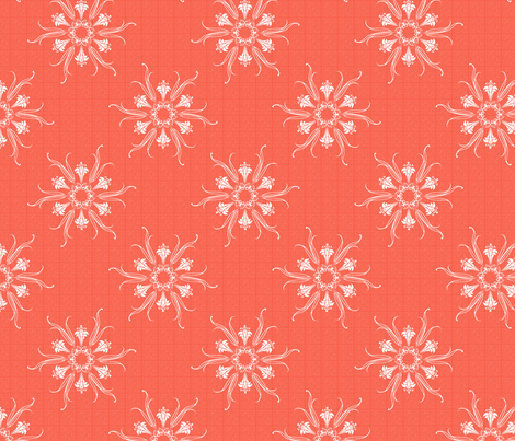 butterflakes_coral fabric by glimmericks on Spoonflower - custom fabric