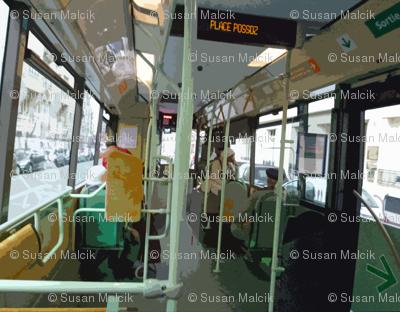 32 Bus near Place Possoz, Paris