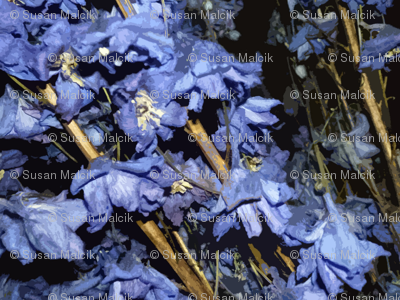 Dried Blue Flowers