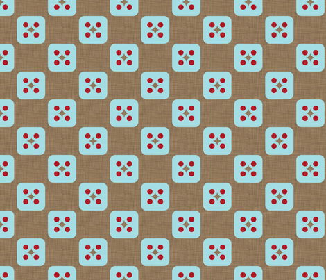 four_square_linen_aqua fabric by holli_zollinger on Spoonflower - custom fabric