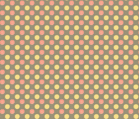 dahlia_buttons fabric by holli_zollinger on Spoonflower - custom fabric