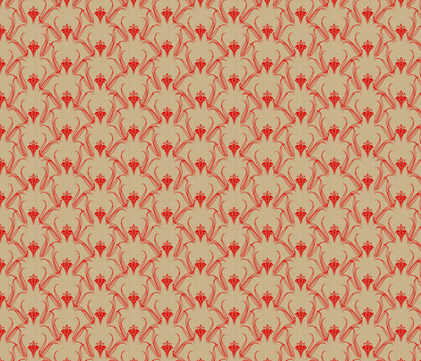 LILLIEs_flame_on_beige fabric by glimmericks on Spoonflower - custom fabric