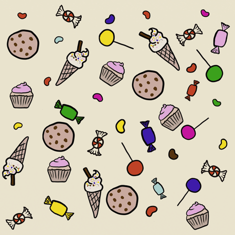 Sweets fabric by pleonastication on Spoonflower - custom fabric