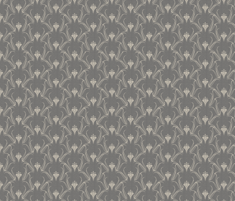 LILLIEs_SILVER fabric by glimmericks on Spoonflower - custom fabric