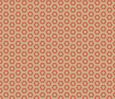 butterflakes_dots_flame_on_beige fabric by glimmericks on Spoonflower - custom fabric