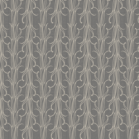 lily_leaf_stripe_silver fabric by glimmericks on Spoonflower - custom fabric