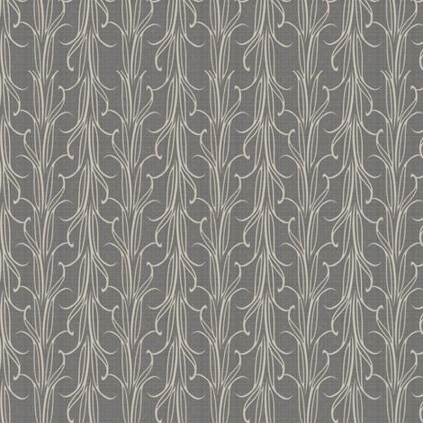 lily_leaf_stripe_silver fabric by glimmericks on Spoonflower - custom fabric