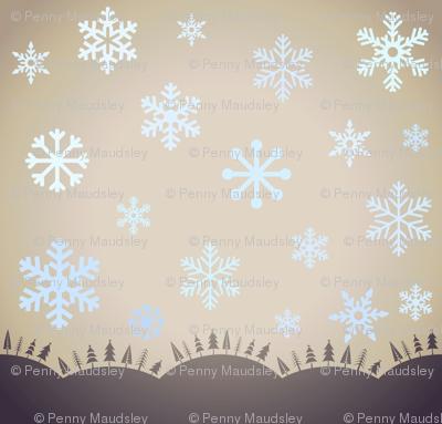 SNOWFLAKES AT DUSK