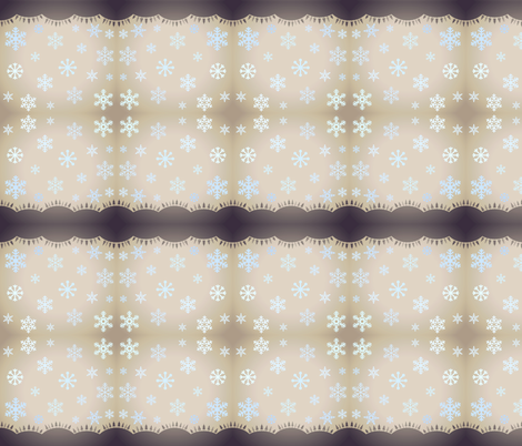 SNOWFLAKES AT DUSK fabric by bluevelvet on Spoonflower - custom fabric