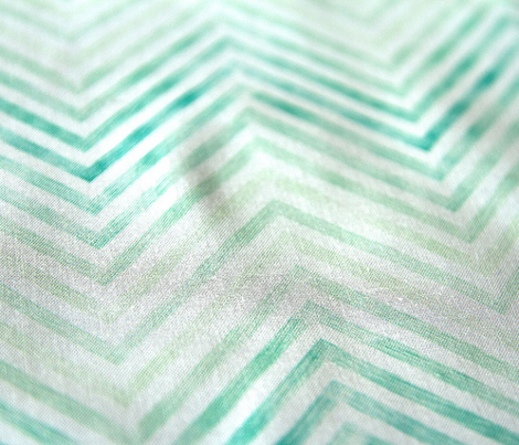 Washed out turquoise chevrons