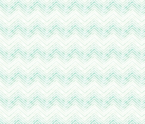 Washed out turquoise chevrons fabric by seabluestudio on Spoonflower - custom fabric
