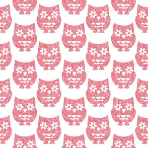 Sparkle Owls- Pink
