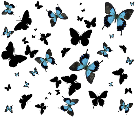 BUTTERFLIES fabric by bluevelvet on Spoonflower - custom fabric