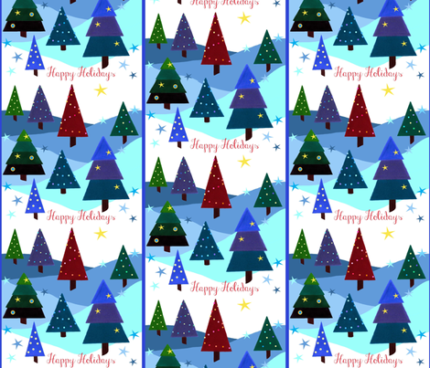 Festive Lights - Happy Holidays fabric by painter13 on Spoonflower - custom fabric