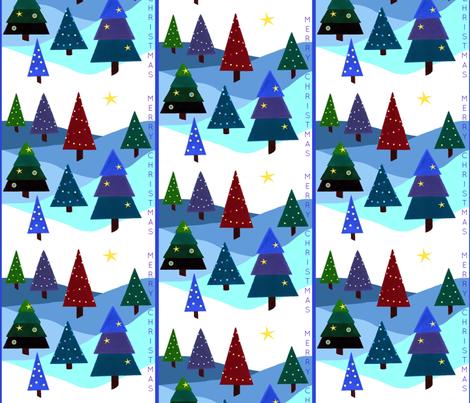 Festive Lights - Merry Christmas fabric by painter13 on Spoonflower - custom fabric