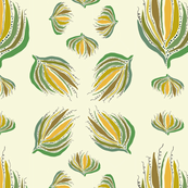 Abstract Plant, Hawaiian Quilt Format