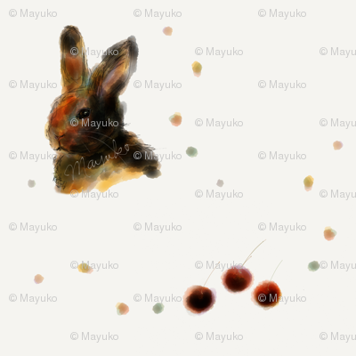Bunny and Cherries