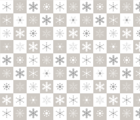 Snowflake Chequer fabric by smuk on Spoonflower - custom fabric