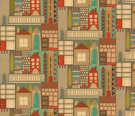 RESIDE RETRO large fabric by scrummy on Spoonflower - custom fabric