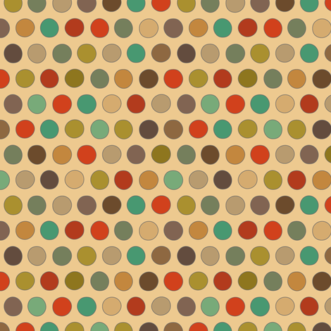 RESIDE RETRO DOTS fabric by scrummy on Spoonflower - custom fabric