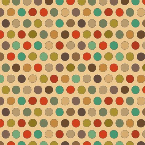 RESIDE RETRO DOTS fabric by scrummy on Spoonflower - custom fabric
