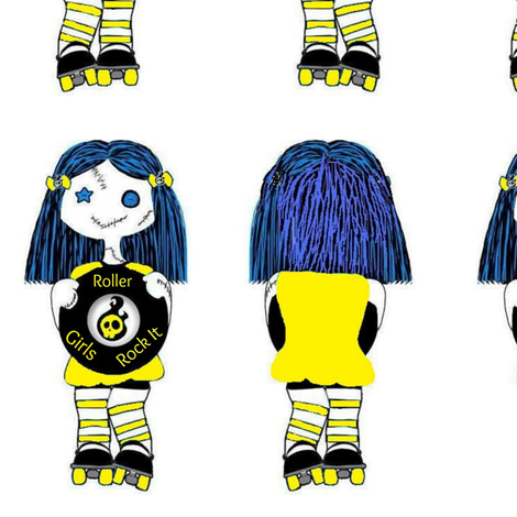 7 in Yellow Rocking Derby Doll