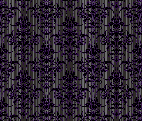 Susan's Susanier Damask fabric by peacoquettedesigns on Spoonflower - custom fabric