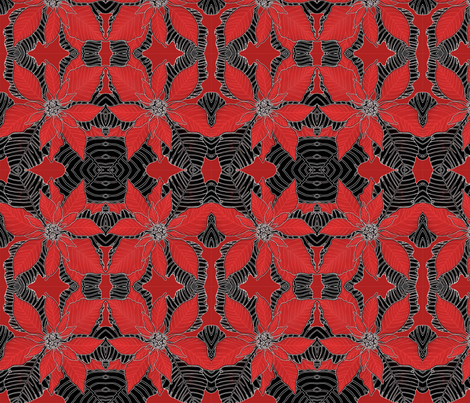 BAUER-Poinsettia fabric by scatteredseeds on Spoonflower - custom fabric