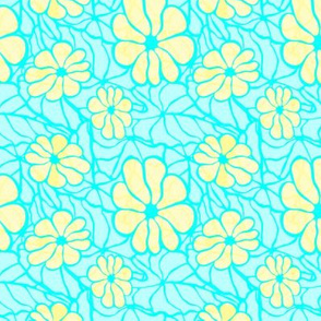 Flower Power in Light Blue