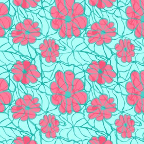 Flower Power in Pink and Blue