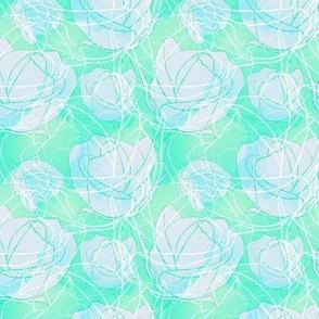 Roses in Aqua
