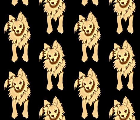 Frank Sinatra PapiPom dog design fabric by waiomaotiki on Spoonflower - custom fabric