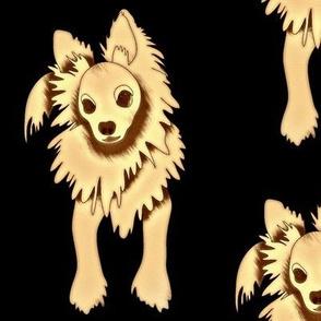 Frank Sinatra PapiPom dog design
