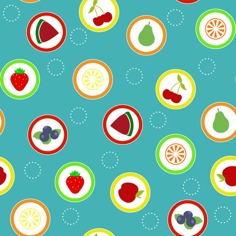 Hard Fruit Candy Blue fabric by designedtoat on Spoonflower - custom fabric
