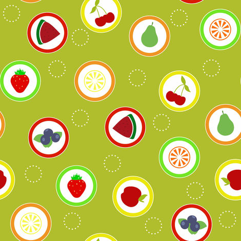 Hard Fruit Candy Citrus fabric by designedtoat on Spoonflower - custom fabric